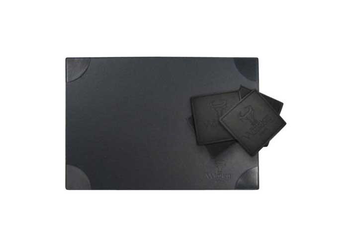 5520 - Matched Rectangular Place Mat / Deskpad and Coaster Set