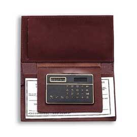 Checkbook Holder with Calculator